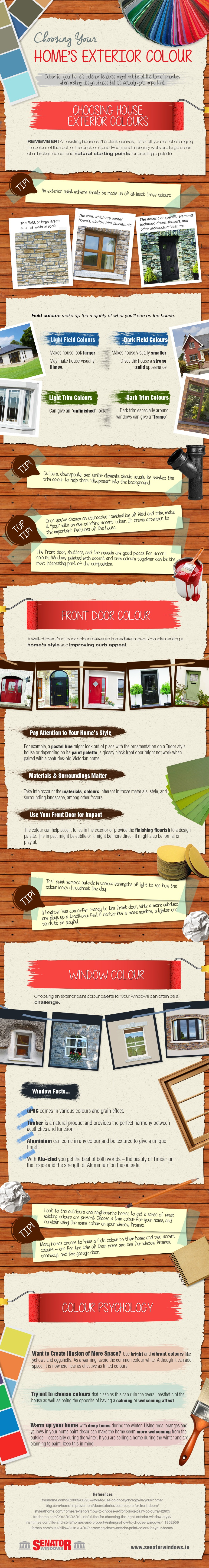 Colour Projects for the Home - Senator Windows Infographic