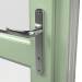 INTERNALCHROME HANDLE ON uPVC RESIDENTIAL DOOR (COLOUR - CHARTWELL GREEN ON WHITE BASE)