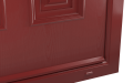 EXTERNAL CORNER OF SENTINEL COMPOSITE FRONT DOOR (COLOUR - RED)