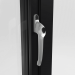 SATIN HANDLE ON ALUMINIUM CASEMENT WINDOW (COLOUR - JET BLACK RAL 9005 MATT)