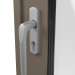 EXTERNAL SATIN HANDLE ON ALUMINIUM LIFT & SLIDE DOOR (COLOUR - BEIGE GREY RAL 7006 MATT)