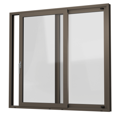 EXTERNAL VIEW OF ALUMINIUM LIFT & SLIDE DOOR (COLOUR - BEIGE GREY RAL 7006 MATT)