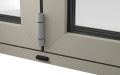 EXTERNAL DETAIL OF ALUMINIUM BI-FOLD DOOR (COLOUR - PEBBLE GREY RAL 7032 MATT)
