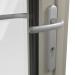 EXTERNAL SATIN HANDLE ON ALUMINIUM BI-FOLD DOOR (COLOUR - PEBBLE GREY RAL 7032 MATT)