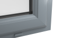 EXTERNAL CORNER OF uPVC CASEMENT WINDOW (COLOUR - 7155 GREY)