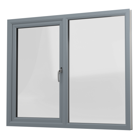INTERNAL VIEW OF uPVC CASEMENT WINDOW (COLOUR - 7155 GREY)
