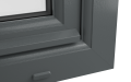 EXTERNAL CORNER uPVC OF TILT & TURN WINDOW (COLOUR - 7012 GREY WOODGRAIN)