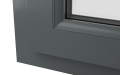 INTERNAL CORNER uPVC TILT & TURN WINDOW (COLOUR - 7012 GREY WOODGRAIN)