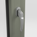 SATIN HANDLE ON ALUMINIUM TILT AND TURN WINDOW (COLOUR - CEMENT GREY RAL 7033 MATT)
