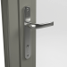 INTERNAL CHROME HANDLE ON ALUMINIUM RESIDENTIAL DOOR (COLOUR - CONCRETE GREY RAL 7023 MATT)