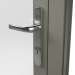 EXTERNAL CHROME HANDLE ON ALUMINIUM RESIDENTIAL DOOR (COLOUR - CONCRETE GREY RAL 7023 MATT)