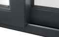 EXTERNAL TRACK DETAIL OF uPVC PATIO DOOR (COLOUR - 7016 SMOOTH GREY)