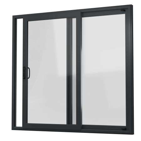 EXTERNAL VIEW OF uPVC PATIO DOOR (COLOUR - 7016 SMOOTH GREY)