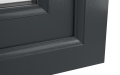 INTERNAL CORNER OF uPVC FRENCH DOORS (COLOUR - 7016 GREY WOODGRAIN)